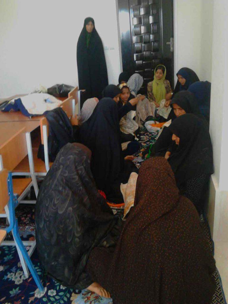 توانمندسازی زنان روستای قاسم آباد جیرفت کرمان موسسه نیکوکاری مهرطه