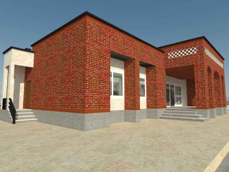 نقشه سه بعدی مدرسه مهرطاها در روستای قاسم آباد جیرفت کرمان