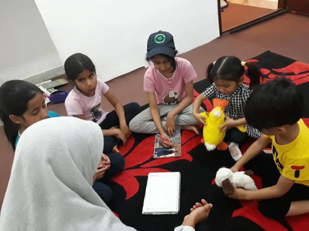 کتابخانه کودک محور سپهر روستای قاسم آباد