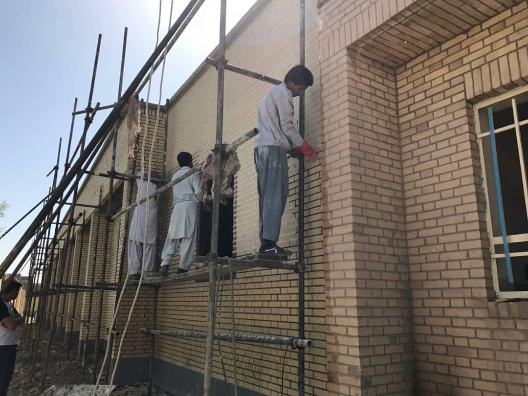 ساخت مدرسه در شهرستان هامون