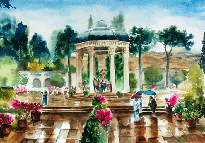 نقاشی از حافظیه شیراز